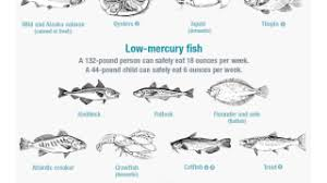 Seafood Mercury Chart Know Which Fish Are Low In Mercury With This Chart