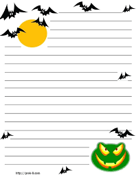 Halloween Writing Paper Template Printable Templates Best Photos Of
