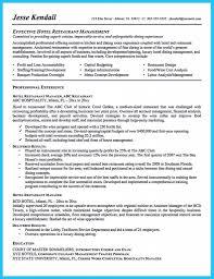 Restaurant General Manager Job Description Resume Resume Online