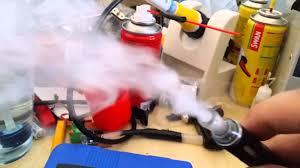 diy fog machine using ecig and air pump 1st run