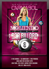 Club Flyer Templates Free N2n44 Graphic Design Billiard Bar Pool Club Flyer Template