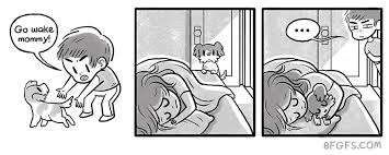 Girlfriend Illustrates Everyday Life With Her Boyfriend And A Puppy