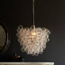clear glass bubble chandelier designs inside plan 10