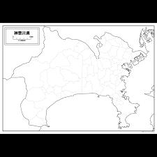 神奈川県の白地図を無料ダウンロード 白地図専門店
