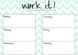 blank work schedule work out templates tunnelvisie