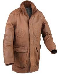 3 4 length leather coat