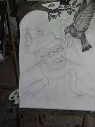 Дипломная работа Кормящий голубей запись пользователя lira  качество конечно не супер моя дипломная картина в художке формат а2 как вам идея моя