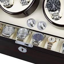 excelvan mens luxury wood watch winder leather storage display box excelvan mens luxury wood watch winder leather storage