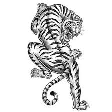Thus a virtual tattoo coloring book and virtual tattoo painting book named tattoo art paint coloring pages for boys is launched. Tiger Tattoo Coloring Page Favecrafts Com