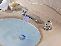 led three sets of waterfall bathtub faucet with chrome finish at faucetsdeal com