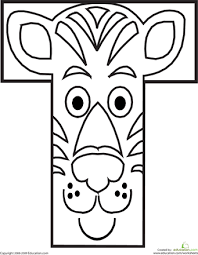 Small Picture Letter T Coloring Page Worksheets Animal alphabet and Animal