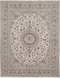 kashmar cream wool rug hand knotted persian rug 10
