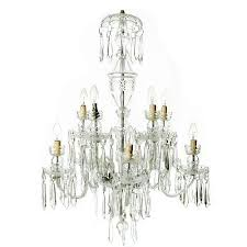 a 20th century cut crystal ten light chandelier by waterford