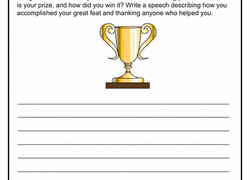 th grade writing worksheets printables com creative writing acceptance speech