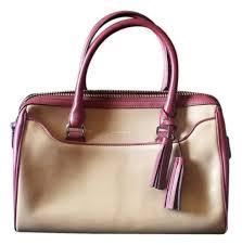 Coach legacy two tone haley tan cranberry leather satchel tradesy jpg  948x960 Coach haley satchel