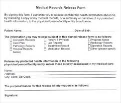 Sample Medical Records Release Form New Release Of Medical Records Form Heartimpulsarco