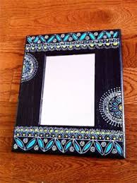 diy painted mirror frame. MOTHER\u0027S DAY SPECIAL: Handpainted Mirror ,india Nepal Madhubani , Indian Décor Handicraft Home Decor,indian   Painted Mirrors, Diy Frame