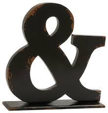 wood ampersand symbol decor