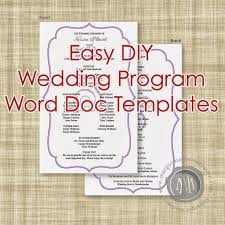 Microsoft Wedding Program Templates Wedding Program Template Microsoft Word On Google Docs Brochure