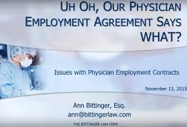 Physician Employment Agreement Uh Oh Our Physician Employment Agreement Says WHAT The Bittinger 23
