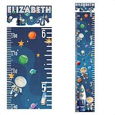 Boys Height Chart Uk Personalised Height Chart For Kids Growth Wall Sticker Decal
