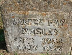 Janice Fay Mosley (1954-1955) - Find A Grave Memorial