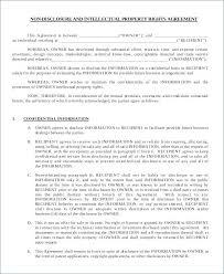 Nda Template Canada Employee Non Disclosure Agreement Sample Pdf Template Nda