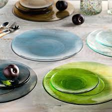 colored glass dinnerware clear plates dinner