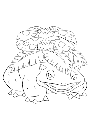 Our free coloring pages for adults and kids, range from star wars to mickey mouse. Venusaur No 03 Pokemon Generation I All Pokemon Coloring Pages Kids Coloring Pages