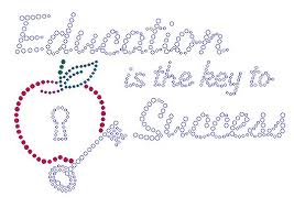 teaching education education is the key to success rhinestone transfer