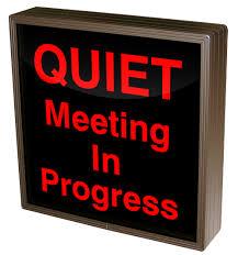 38659 Sbl1212r C887 Quiet Meeting In Progress Led Signs Interior