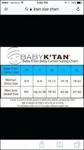 Baby K Tan Size Chart 24hourexpresstucscon Website