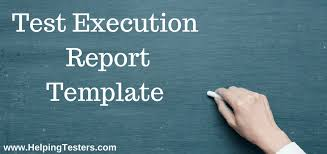 Test Execution Reports - Download Sample Template