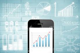 Chart Mobile Plan Business Chart On Smart Phone With Drawing Business Plan Concept Mobile