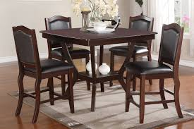 espresso counter height dining table