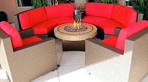 patio furniture with fire pit round gas fire pit table round patio table fire pit with