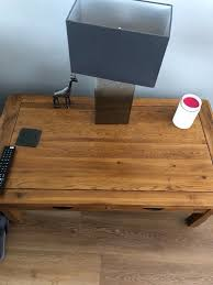 original rustic solid oak 4 drawer storage coffee table from oak tree furniture land image 1 of 4