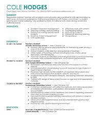 teacher assistant resume getessay biz big assistant teacher example contemporary 4 design in teacher assistant teacher assistant sample