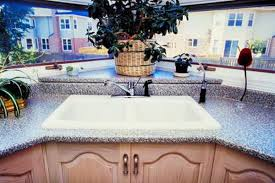 the removal of old corian countertops