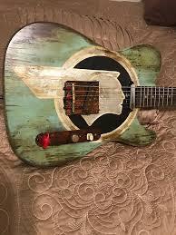 this is a very nice custom tele style guitar custom usa northern ash