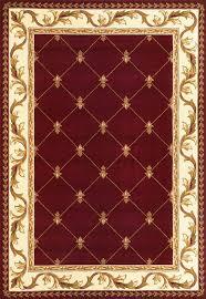 corinthian 5319 red fleur de lis area rug by kas