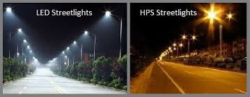 most of the province s roads and highways were being lit by high pressure sodium hps and some mercury vapor bulbs both of which are relatively