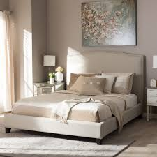 modern platform beds with lights. Modren Beds Shop Baxton Studio Aisling Light Beige Modern Platform Bed  Free Shipping  Today Overstockcom 9610198 And Beds With Lights B