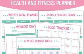 workout planner template free printable health and fitness planner