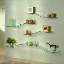 attractive glass shelf for wall contemporary decoration modern