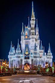 Castle Christmas Lights Cinderella Castle Christmas Lights Walt Disney Disneyland