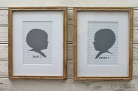 craft paper frames silhouettes city farmhouse easy diy project for all of your
