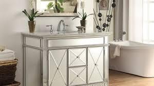 44 inch bathroom vanity. Mirrored Bathroom Vanity With Sink Modern Adelina 44 Inch White Marble Top Regard To 29
