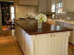 dishy kitchen counter decorating ideas: awesome kitchen designs with dazzling light and stylish wooden cabinet and rectangular island or counter with