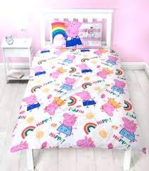 pig ay single bed reversible panel quilt set bedding target peppa twin duvet cover no comforter flat sheet pillowcases footprint bedng pillowcase